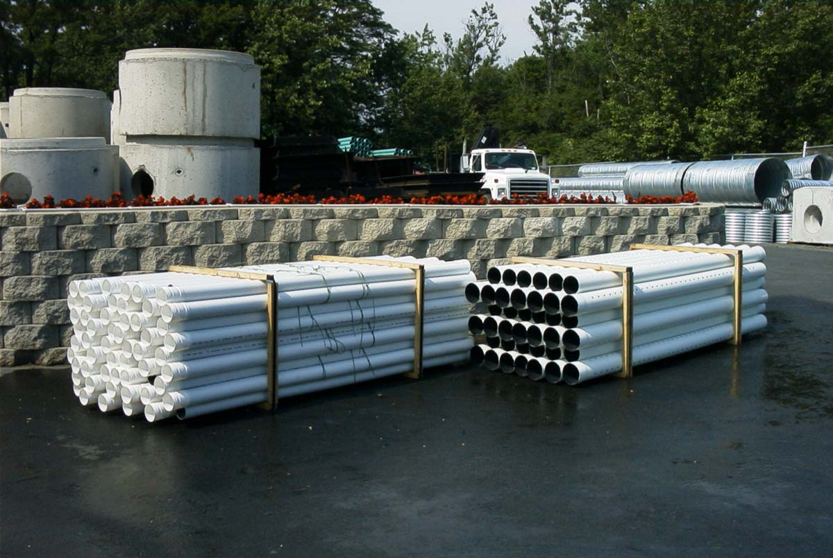 """P.V.C. Drain Pipe Sizes 4"""" and 6"""" Ø Solid or Perforated"""